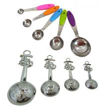 custom metal heart shaped measuring tools measuring spoon set for sale