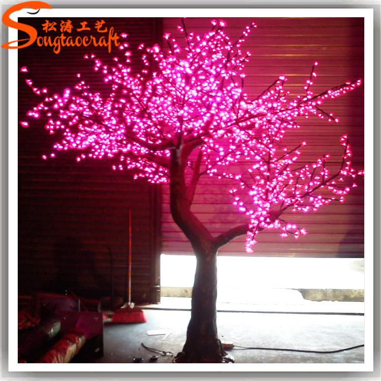 Faux fleur de cerisier led décorative arbres led lumière ...