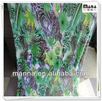 Fake digital flower print nylon mesh fabric for summer dresses