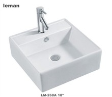 LM-268A Above Counter Mounting Ceramic Sink Sanitary Ware Rectangular Art Basin Bathroom Hand Wash Basin
