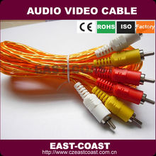sheild yellow 3x3 rca video cable