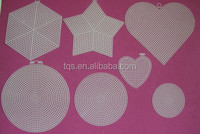 Factory supply DIY material cross stitch Plastic canvas sheets and shape /hearts,star,round,Hexagon