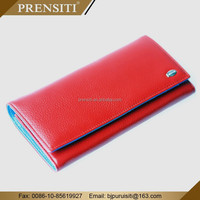 PRENSITI brand names european genuine leather fashion wallet for women