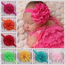 cute hot selling children girls handmade hair accessories fascinating mesh flower headband party hair accessory MY-AC0012