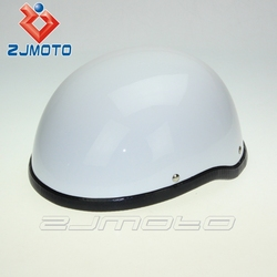 Shorty Helmet White Motorcycle Half Helmet Cap Scooter helmet XLarge