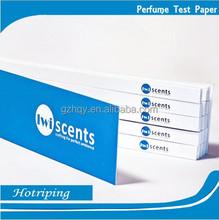 Logo perfume paper test strip smelling book oem factory wholesale custom logo test strip smelling book
