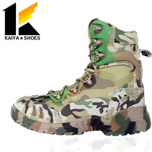Navy Long Camouflage Snow Boots