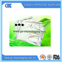 the BIB Bag in Box for wine bag/Bulk order one container bib bag in box with vitop for wine