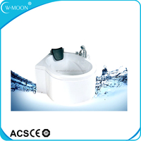 White Round 1 Person Hot Tub Jetted Tub Shower Combo