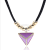 Triangle design pandant necklace,wire beaded necklace for cute girl