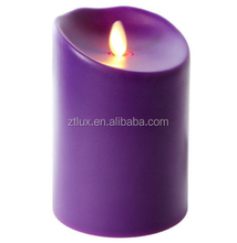 Hot sale product rechargeable wax led candle light with realistic flame