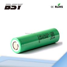 In stock Samsung 25R for segway self balancing scooter battery Samsung 18650 3.7v li-ion battery 2500mah high drain