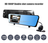 """Colorful Loop recording 4.3""""Screen rearview mirror car gps with dvr"""
