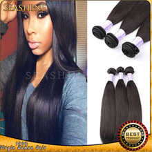 "LATEST FASHION HOT SELLER!! 100% Brazilian Virgin Remy Human Hair weave Straight Hair Weft 8""-30"" DHL free shipping in stock 100"
