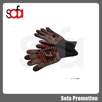 2015 kevlar and silicone heat resistant glove,oven glove, cooking glove