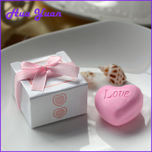 Pink sweet heart shape handmade soap Wedding favors and gifts