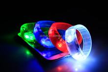 LED Flashing Wristband Glowing Bracelet for best promotional gifts