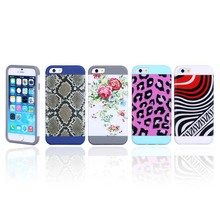 3D Water Printing silicone+PC cell phone case/3D printing cell phone case /3D sublimation drawing phone cover