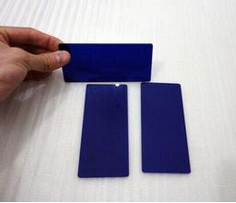 QB19 blue color glass filter for optical Instruments