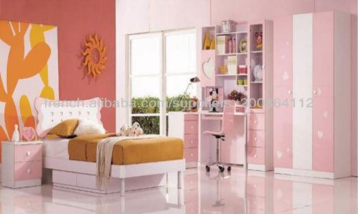 MDF moderne ensemble de meubles de chambre à coucher enfant