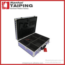 Purple ABS Diamond Print Aluminum Tool Case Metal Box