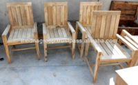 Solid Mango Wood Natural Rustic Finish Dinning Chairs