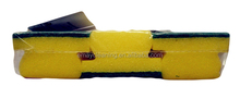 Designer top sell plastic long handle puff mesh bath sponge