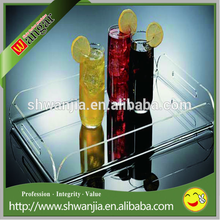 Customized design acrylic serving tray /high quality hot sale acrylic tray for hotel and restaurant