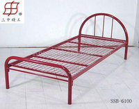 cheap easy assembly latest single red metal bed frame