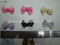 5cm colorful ribbon organza with dot bow for garment and hair