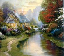 Famous Village Scenery Oil paintings of Thomas Kinkade