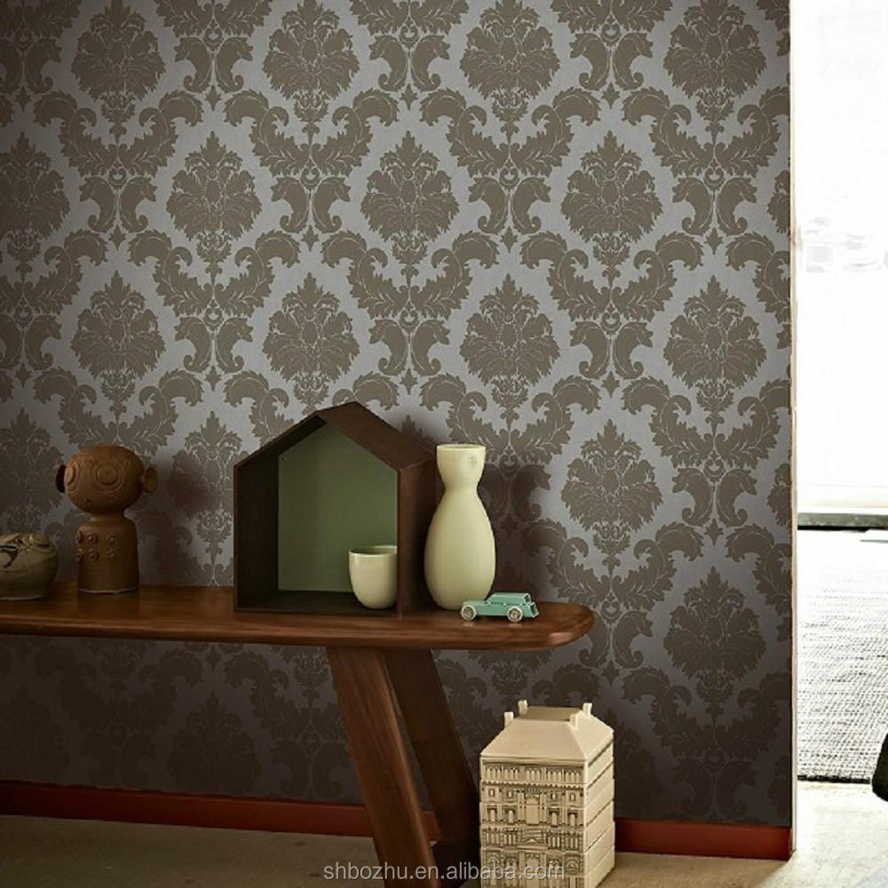 classic european style waterproof wallpaper for bathrooms