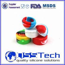Alta qualidade personalizado 7ml pequena quente alimentos thermos contentores/petróleo dab recipiente de cera/cera de silicone e recipiente de óleo