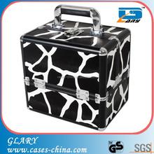 Aluminum Giraffe animal print makeup travel case