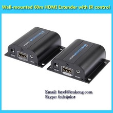 low price hdmi extender 60m over single Cat6 with IR control