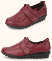 latest design fair lady sexy red flat shoes
