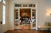 Interior room modern design glass pocket door, white french door