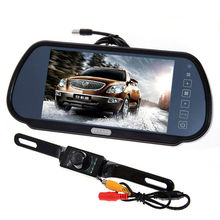 """7"""" Security LCD Wide Screen Car Rear View Backup Parking Mirror Monitor + Camera"""