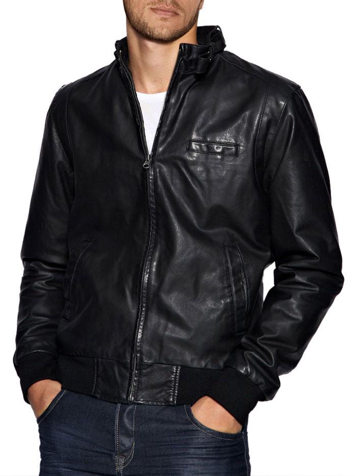 Leather Jacket Bomber
