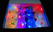 LED Light Bouncy Ball Flashing Bouncing Ball/basketball ball pvc light up inside led