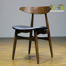 Simple Design wholesale Ash solid wood dining chairs for sale restaurant chair Walnut chair