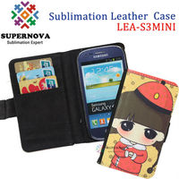 Design your own mobile phone flip leather case for samsung galaxy s3 mini