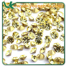 Wholesales Pointed Back Rhinestone Crystal Glass