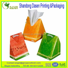 Offset printing paper box with tissue paper