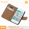 BRG Leather Phone Case For iPhone 4 Cover Case With Credit Card Holder
