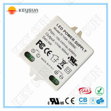 small size 12V 6W LED driver 6W led power driver ac dc output