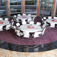 2m plastic folding round table for restaurant, party, wedding, hotell|blow molding folding table made in china, lightweight
