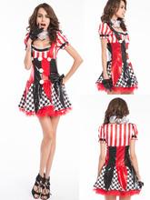 Adultos Mujeres Sexy Payaso <span class=keywords><strong>de</strong></span> <span class=keywords><strong>Circo</strong></span> Sweetie <span class=keywords><strong>de</strong></span> Halloween Vestido <span class=keywords><strong>de</strong></span> Lujo
