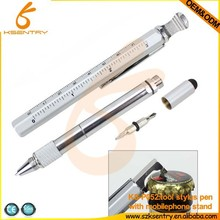 Good quality promotional multi function pen wide stainless steel ballpoint pen &touch functional pen