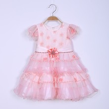 latest party wear frock design for baby girls of 1 years old baby party dress